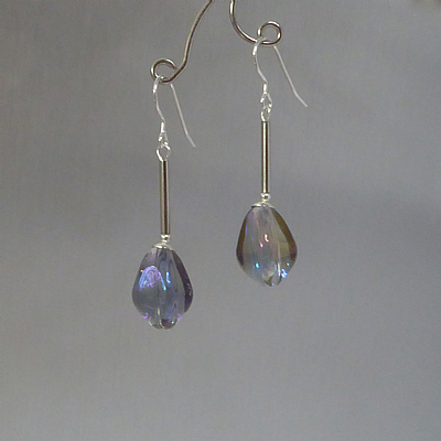 Crystal AB teardrop earrings