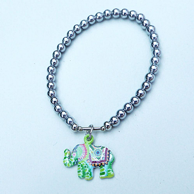 Enamel elephant on hematine