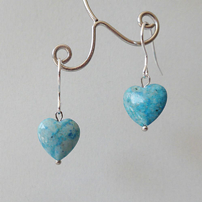 Fossil mini hearts blue