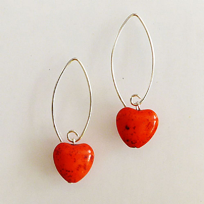 RED MINI FOSSIL HEARTS - XANTHE
